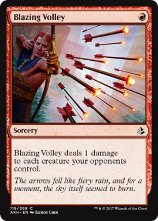 Blazing Volley | Amonkhet