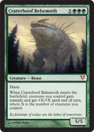 Craterhoof Behemoth | Avacyn Restored