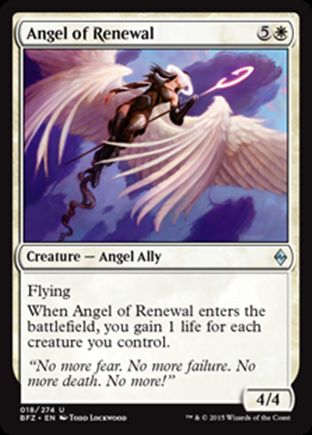 Angel of Renewal | Battle for Zendikar