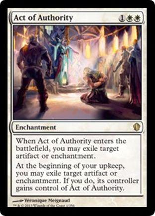 Act of Authority | Commander 2013