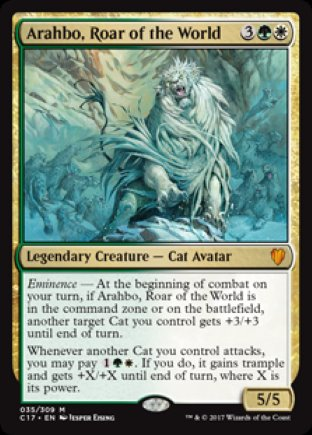Arahbo, Roar of the World | Commander 2017