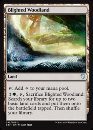 Blighted Woodland | Commander 2017