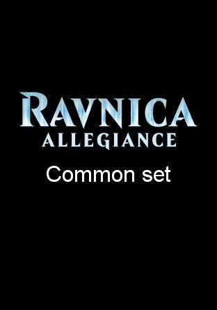 -RNA- Ravnica Allegiance Common Set | Complete sets