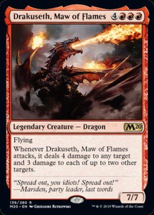Drakuseth, Maw of Flames   Core Set 2020
