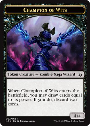 Champion of Wits token | Hour of Devastation
