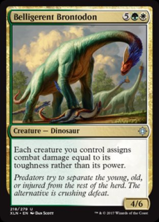 Belligerent Brontodon | Ixalan