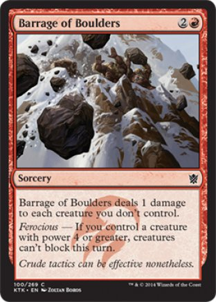 Barrage of Boulders | Khans of Tarkir