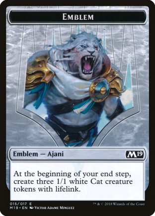 Ajani, Adversary of Tyrants emblem | M19