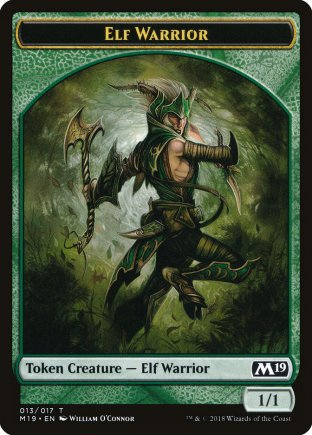 Elf Warrior token | M19