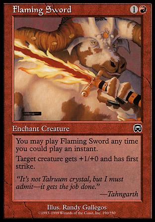 Flaming Sword   Mercadian Masques