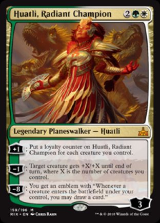 Huatli, Radiant Champion | Rivals of Ixalan