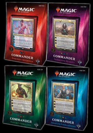 -C18- Commander 2018 set van 4 decks | Sealed product
