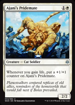 Ajani's Pridemate   War of the Spark