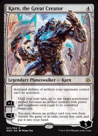 Karn, the Great Creator   War of the Spark