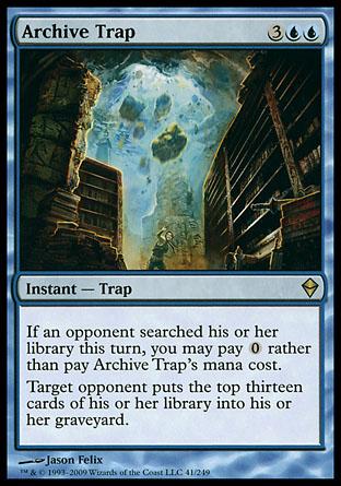 Archive Trap | Zendikar