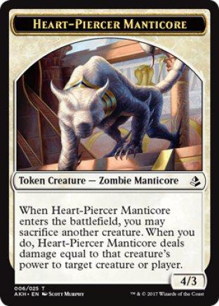 Heart-Piercer Manticore token   Amonkhet