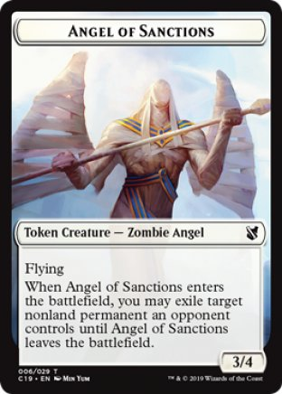 Angel of Sanctions token | Commander 2019