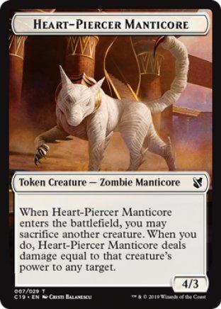 Heart-Piercer Manticore token   Commander 2019