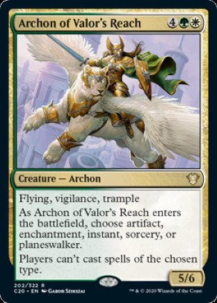 Archon of Valor's Reach | Commander 2020