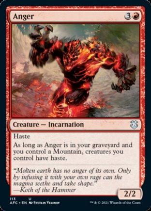 Anger | Commander Forgotten Realms