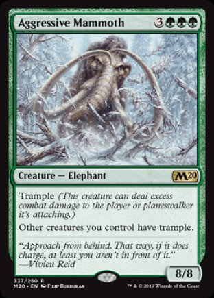 Aggressive Mammoth   Core Set 2020