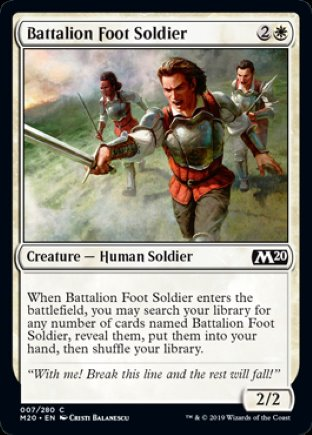 Battalion Foot Soldier   Core Set 2020