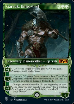 Garruk, Unleashed | Core Set 2021 (SC)