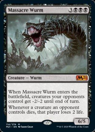 Massacre Wurm   Core Set 2021