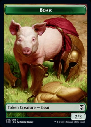 Boar token | Kaldheim Commander