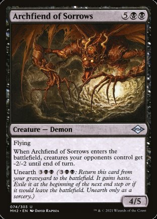 Archfiend of Sorrows   Modern Horizons 2