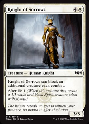 Knight of Sorrows | Ravnica Allegiance