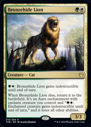 Bronzehide Lion | Theros Beyond Death