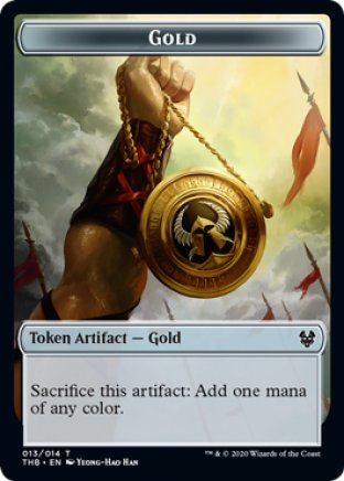 Gold token | Theros Beyond Death