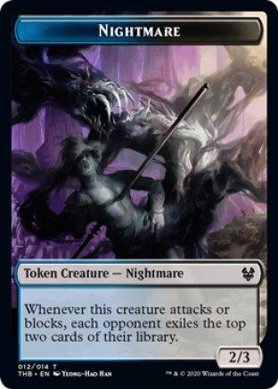 Nightmare token | Theros Beyond Death