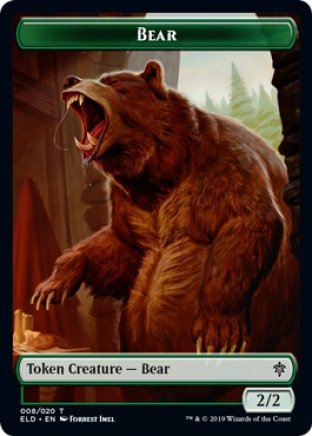 Bear token | Throne of Eldraine