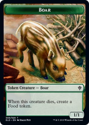 Boar token | Throne of Eldraine
