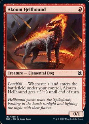 Akoum Hellhound   Zendikar Rising