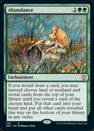 Abundance | Zendikar Rising Commander