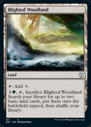 Blighted Woodland | Zendikar Rising Commander